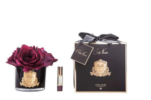 COTE NOIRE - PERFUMED NATURAL TOUCH 5 ROSES - BLACK - CARMINE RED