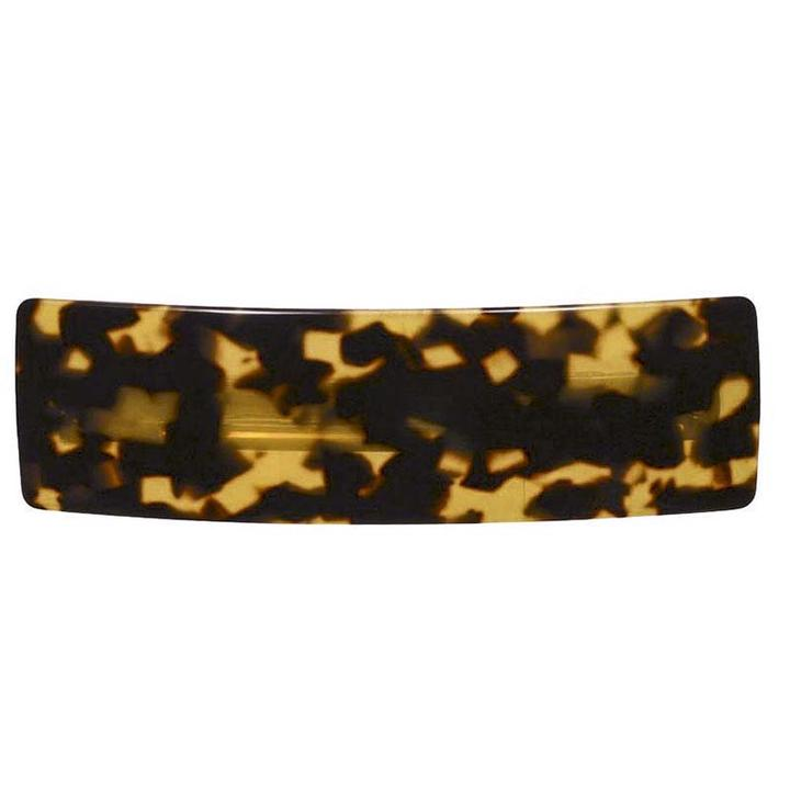 Paris Mode - Hair Clip Rectangle Large - Dark Tortoise Shell
