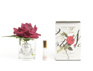 COTE NOIRE - PERFUMED NATURAL TOUCH SINGLE ROSE - CARMINE RED