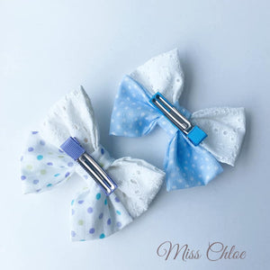 Miss Chloe Handmade Hairclip Set - Chantilly