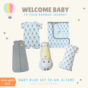 Our Petite Story Baby Blue Set