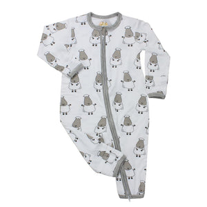 Romper Zip White Big Sheepz