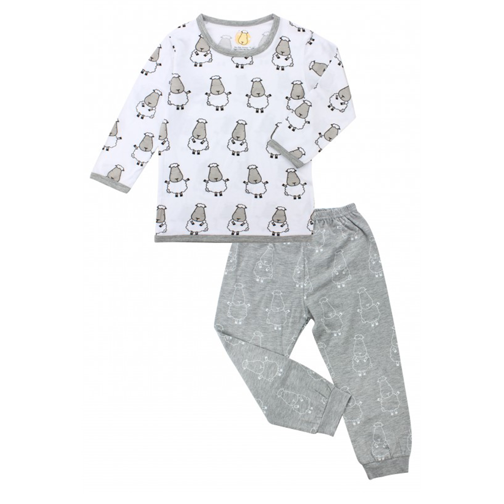 Pyjamas Set White Big Sheepz + Grey Big Sheepz