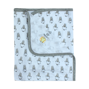 Single Layer Blanket Small Sheepz Blue 0 - 36 months