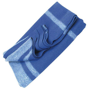 Blanket Classic Wool Washable Blue + White Stripes