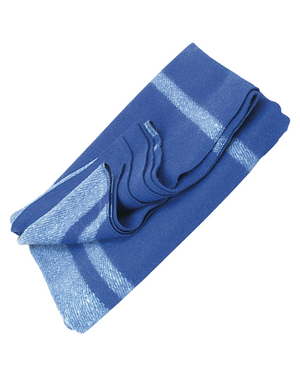 Wool Blanket Classic Washable Blue + White Stripes™