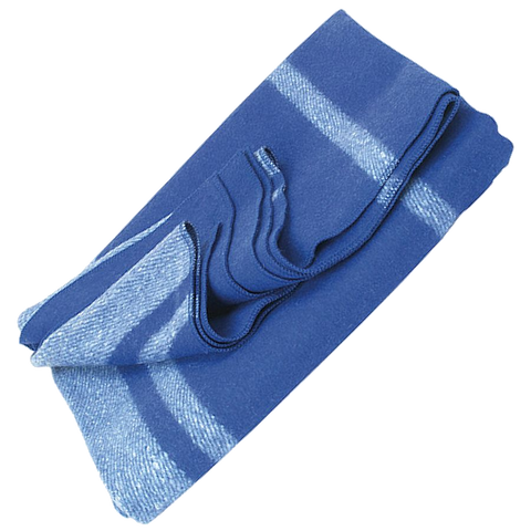 Wool Blanket Classic Washable Blue + White Stripes™ - ARKGROUND COUTURIER