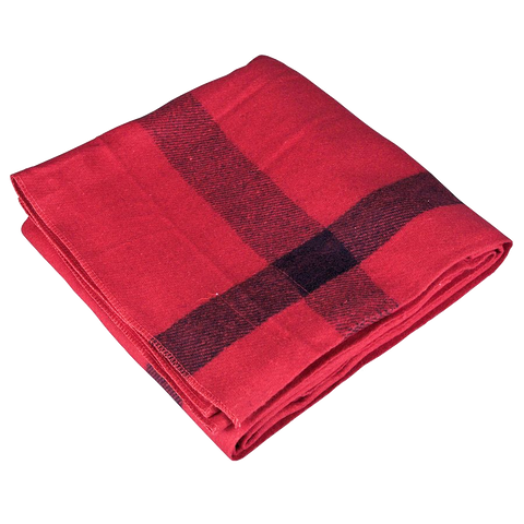 Image of Wool Blanket Classic Washable Red + Dark Stripes™ - ARKGROUND COUTURIER