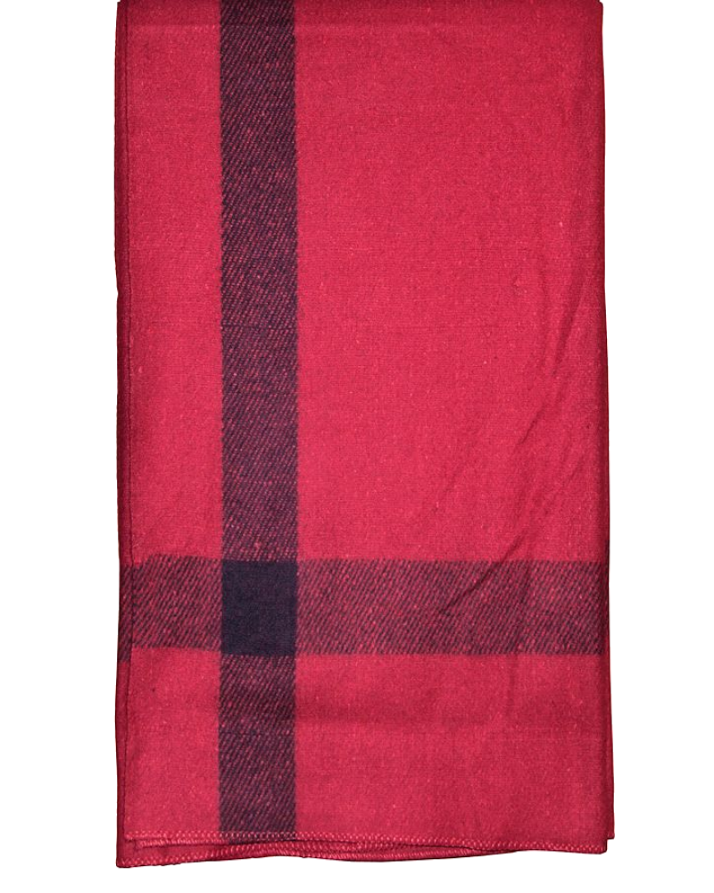 Wool Blanket Classic Washable Red + Dark Stripes™ - ARKGROUND COUTURIER