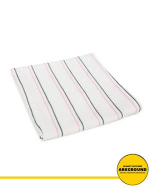 BABY BLANKETS, PINK AND GREY STRIPES BY ADI™ - ARKGROUND COUTURIER