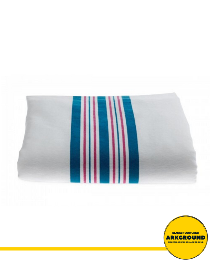 BABY RECEIVING BLANKETS, PINK AND BLUE STRIPES™ - ARKGROUND COUTURIER