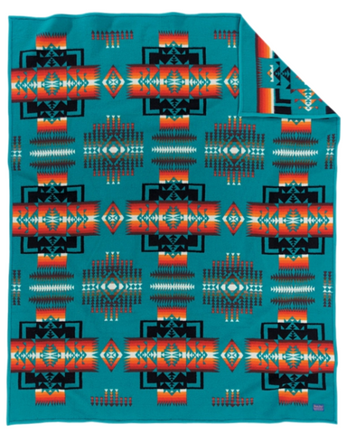 Image of Heritage™ - Fleece Blanket Authentic Native American Pattern Design - ARKGROUND COUTURIER