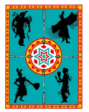 We Dance  - Blanket Authentic Native American Pattern Design by Arkground