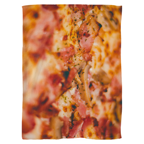 Image of Fleece Blanket Sicilian pizza - ARKGROUND COUTURIER