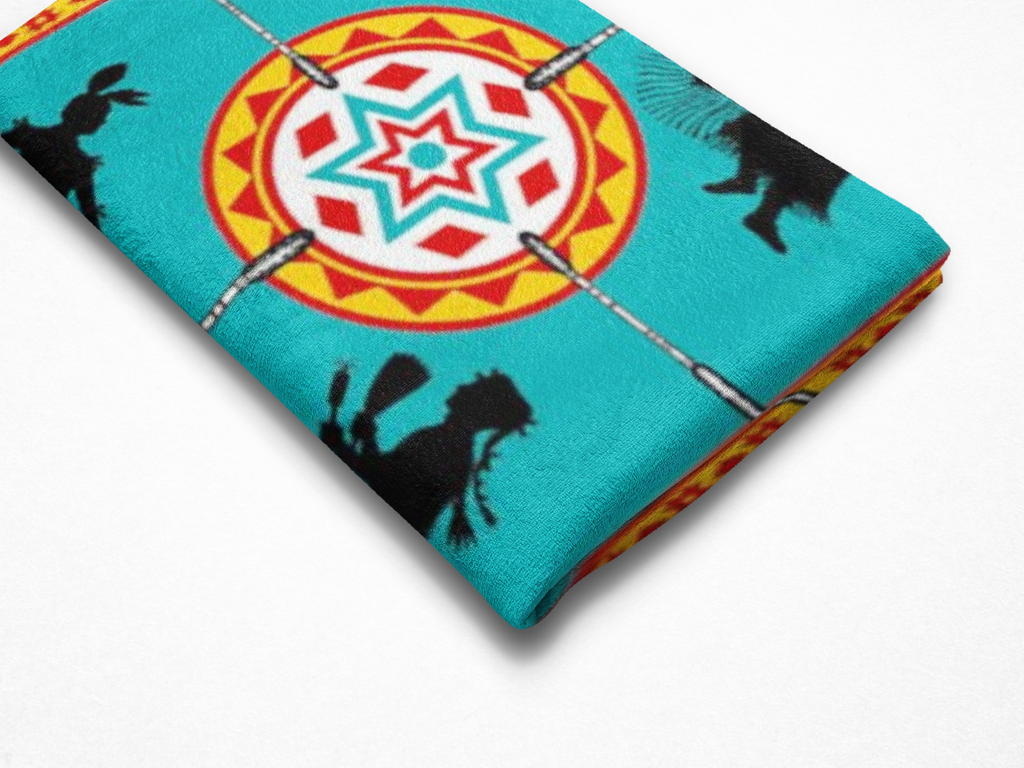 We Dance™ Fleece Blanket Authentic Native American Pattern Design - ARKGROUND COUTURIER