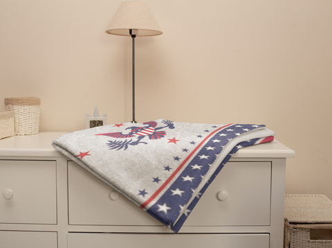 Image of Liberty™ Fleece Blanket - ARKGROUND COUTURIER