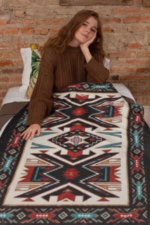 Sand Painting™ Plush Blanket - ARKGROUND COUTURIER