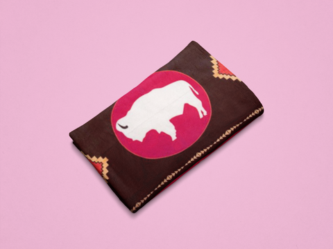 White Buffalo™ Fleece Blanket Authentic Native American - ARKGROUND COUTURIER