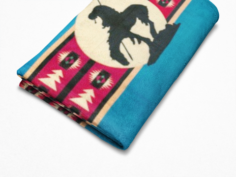 Image of End of the Trail - Fleece Blanket Blanket Authentic Native American Pattern Design™ - ARKGROUND COUTURIER