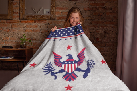 Liberty - Blanket Authentic Native American Pattern Design by Arkground