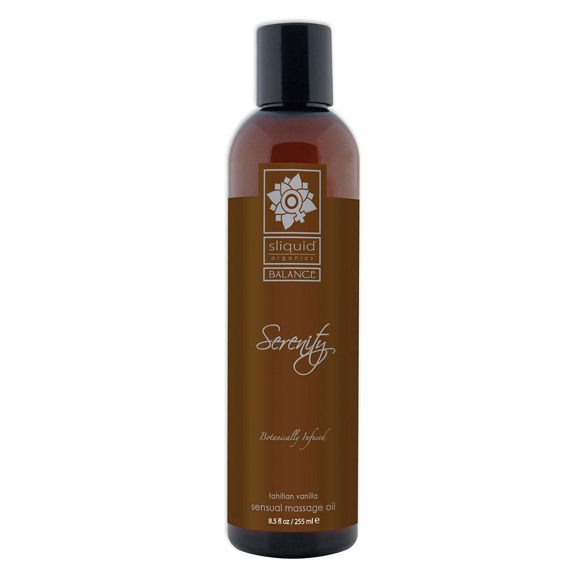 Saddle Brown Sliquid Organics Massage Oil Serenity 8.5oz