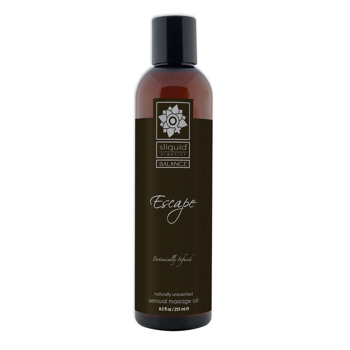 Black Sliquid Organics Massage Oil Escape 8.5oz
