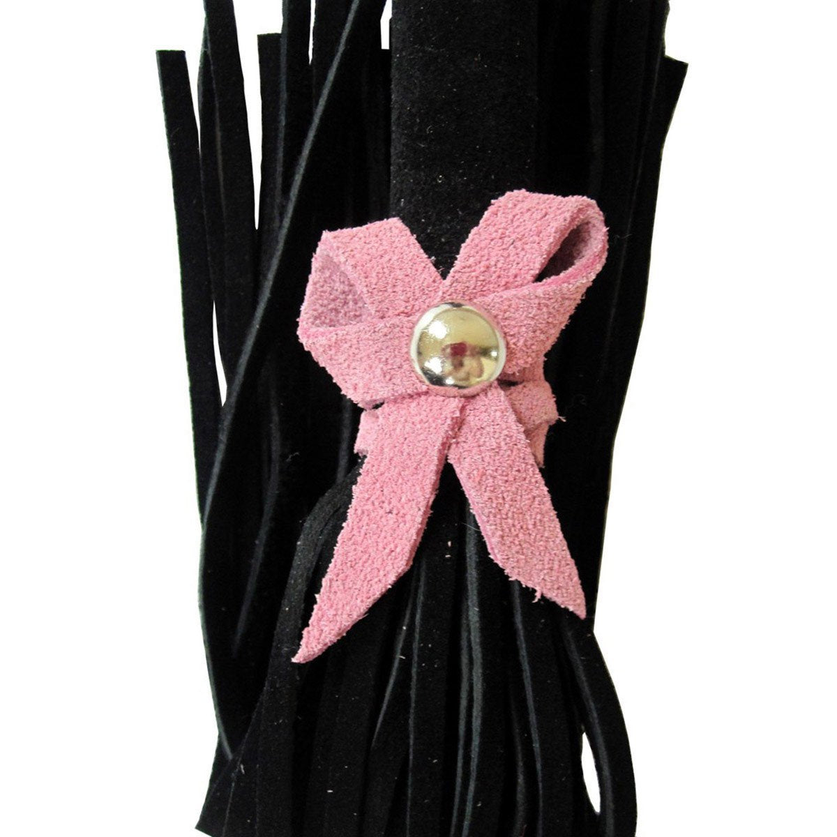 Love Knot Mini Flogger w- Bow - Black w-Pink Bow