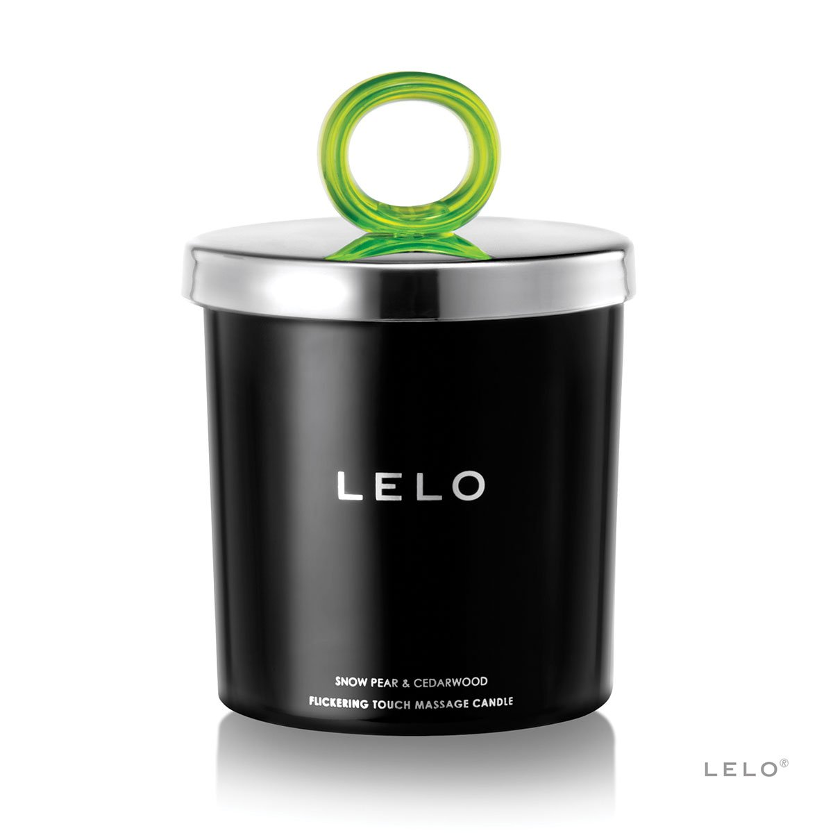 LELO Flickering Touch Massage Candle - Snow Pear-Cedarwood