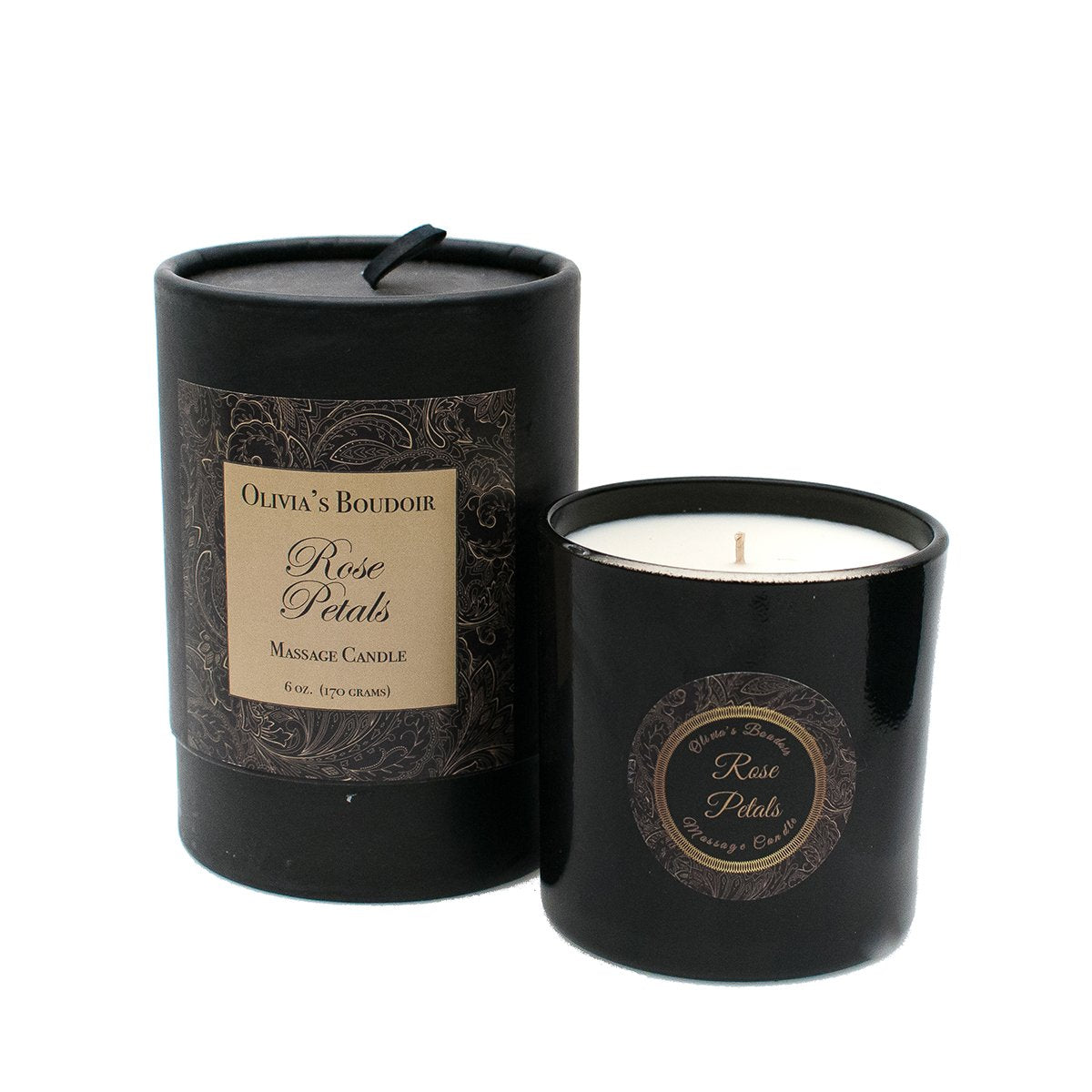 Rosy Brown Olivia's Boudoir Candle 6.5oz - Rose Petals