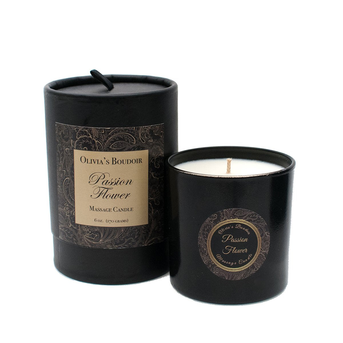Rosy Brown Olivia's Boudoir Candle 6.5oz - Passion Flower