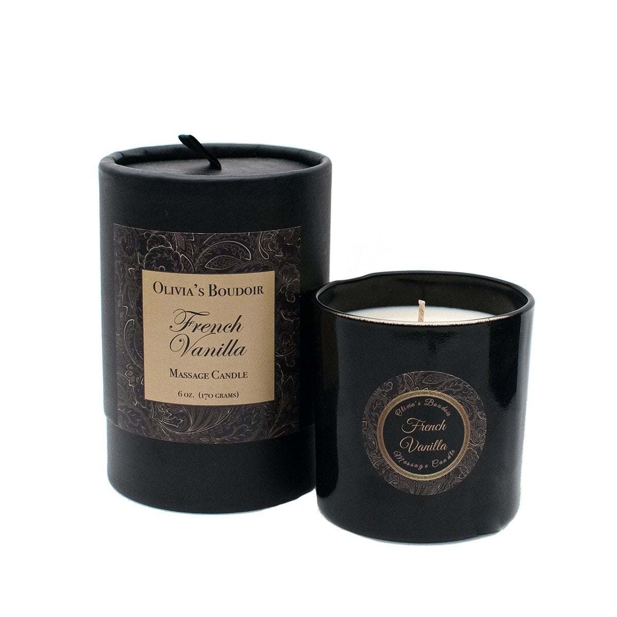 Rosy Brown Olivia's Boudoir Candle 6.5oz - French Vanilla