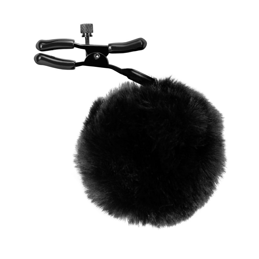 Black Noir - Pom Adjustable Nipple Clamps - Black