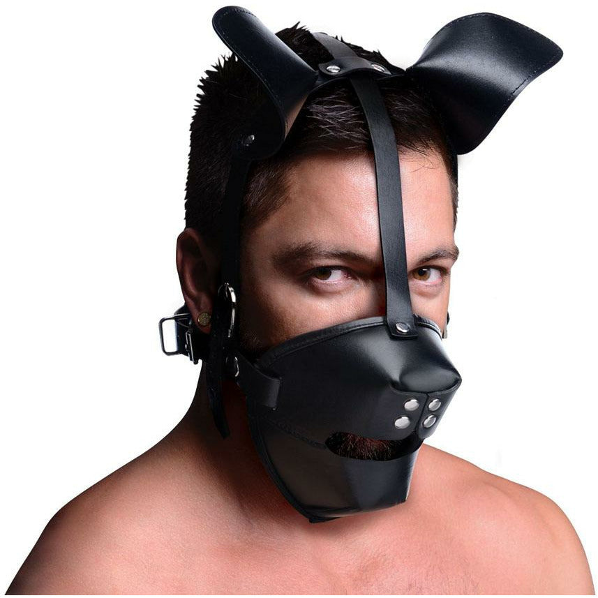 White Pup Puppy Play Hood and Breathable Ball Gag
