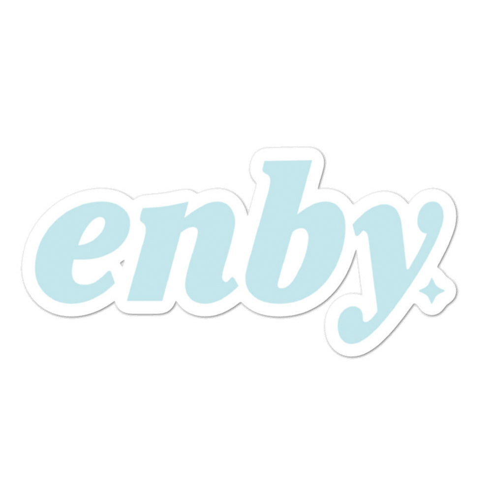 Powder Blue enby sticker