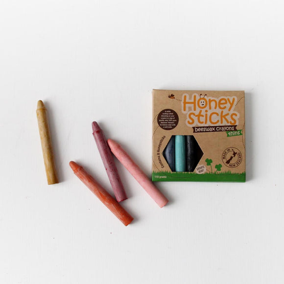 Natural Beeswax Crayons - Thin
