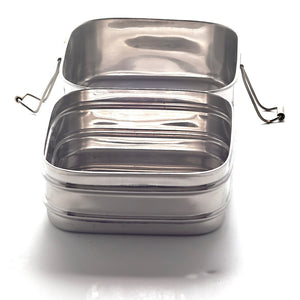 Double-Layer Square Lunchbox