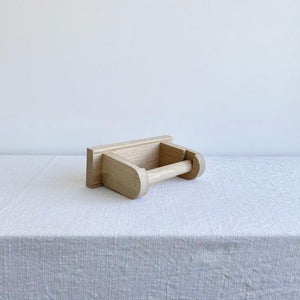 Oak Toilet Roll Holder
