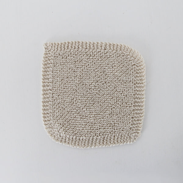 Cream Cotton Knitted Cloth - Single