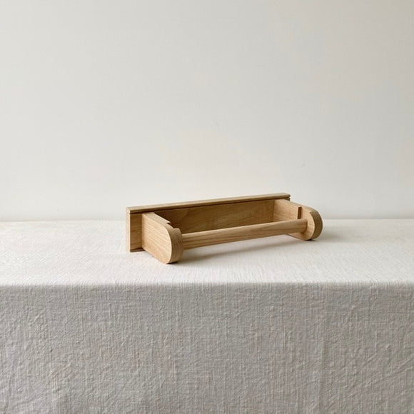 Oak Kitchen Roll Holder / Tea Towel Rail