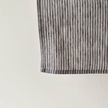 Load image into Gallery viewer, Fog Linen Tea Towel /  Grey Thin White