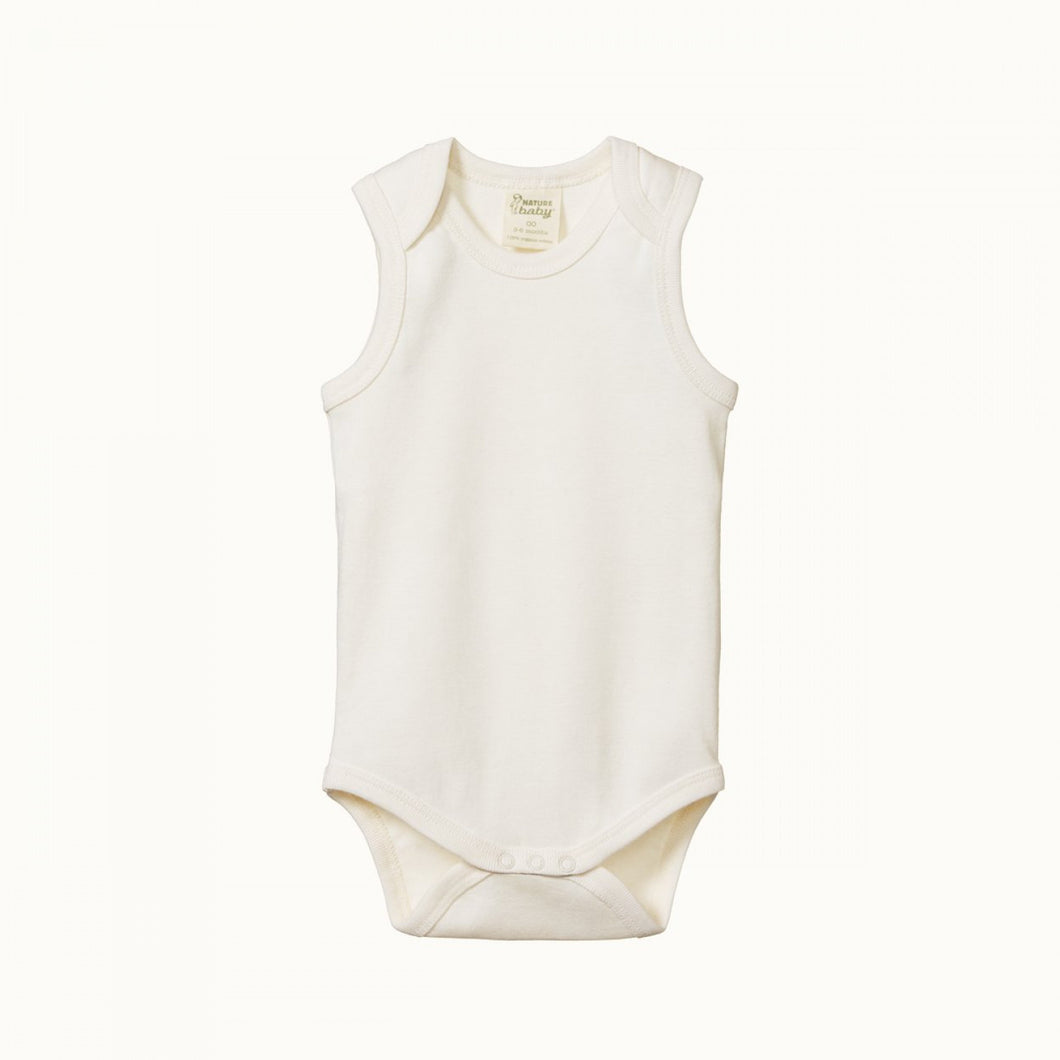 Nature Baby Cotton Singlet Bodysuit / Natural