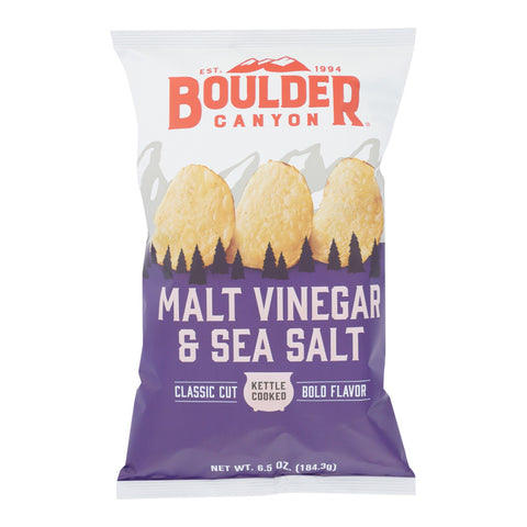 Boulder Canyon Malt Vinegar & Sea Salt Chips - 1.5oz
