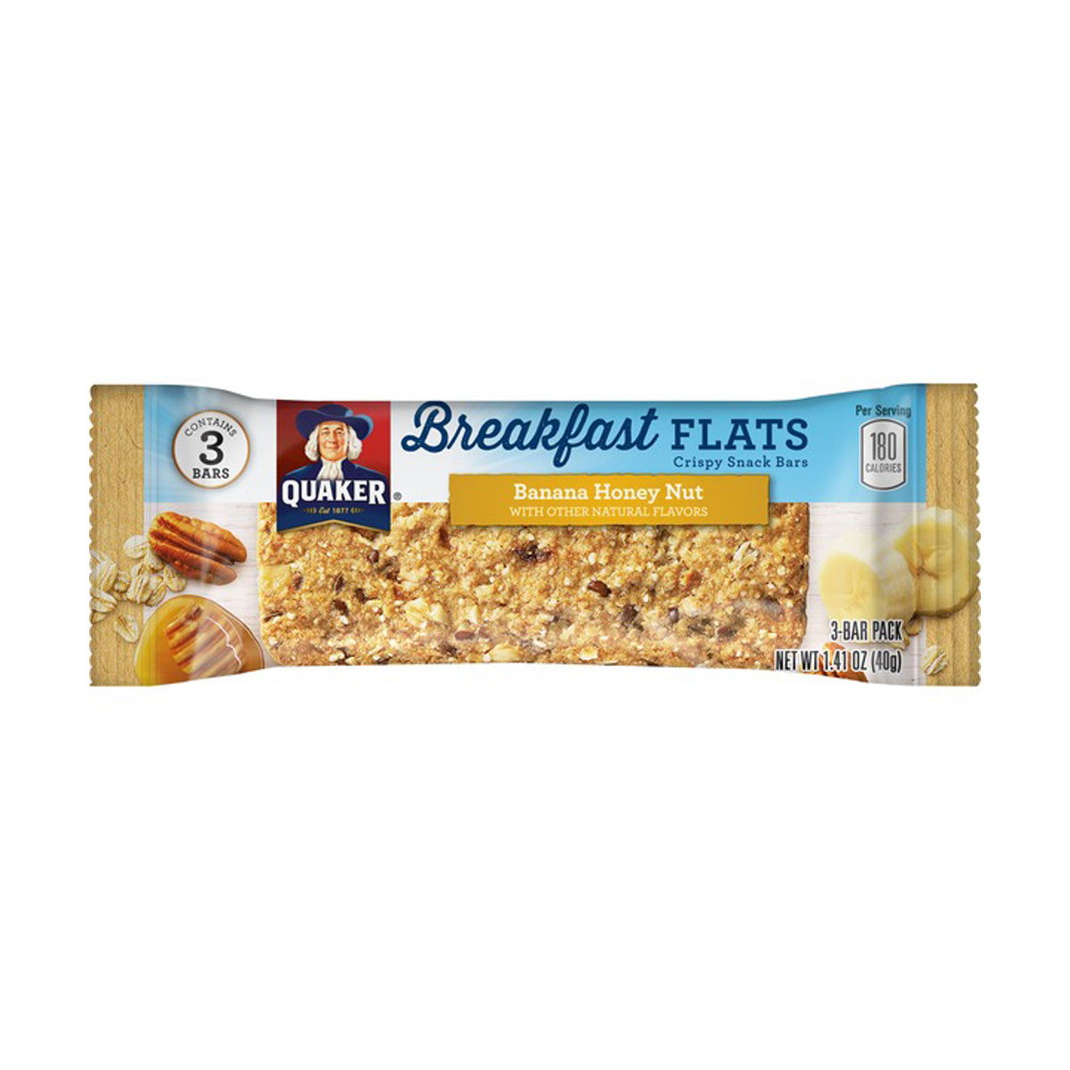 Quaker Breakfast Flats Banana Honey Nut - 1.41oz