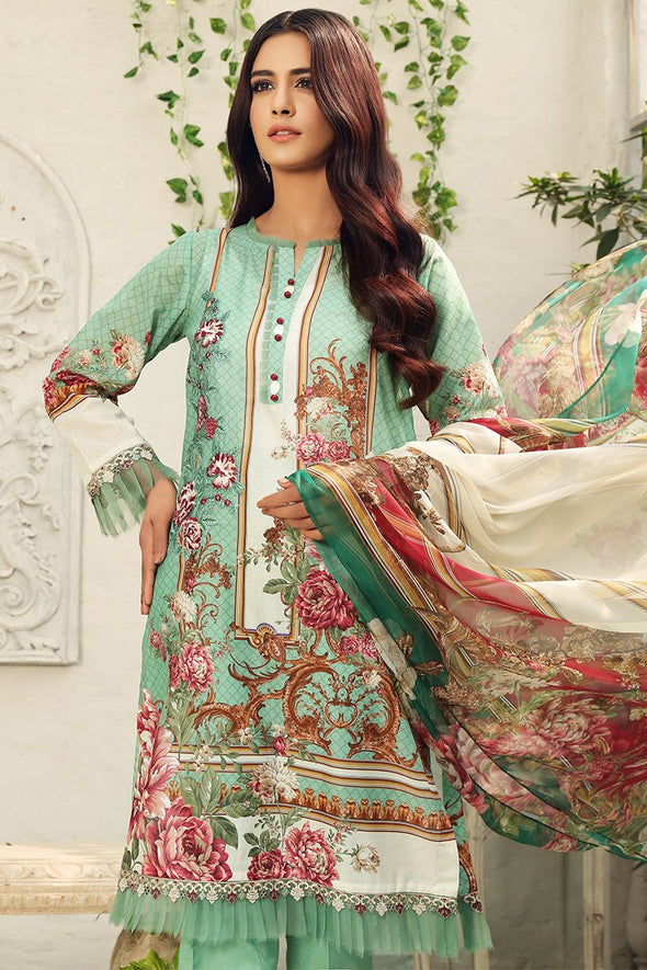 unstitched 3 piece lawn suits