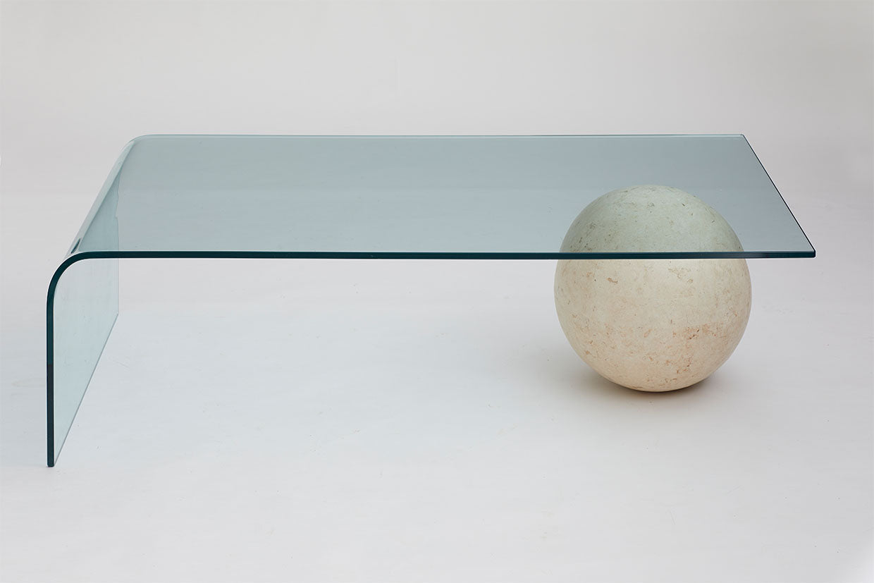 Marble Ball And Glass Coffee Table Au Bespoke