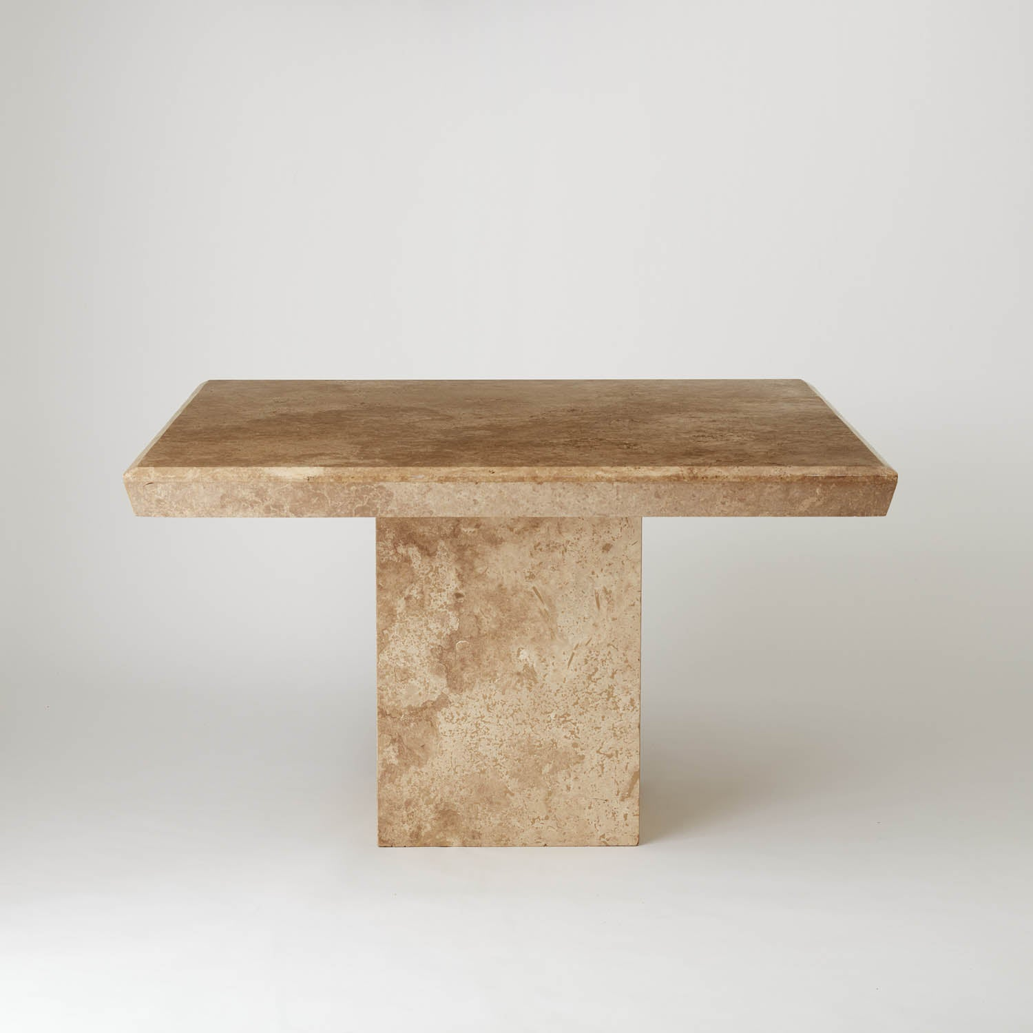 Vintage Mushroom Coloured Square Marble Dining Table Au Bespoke
