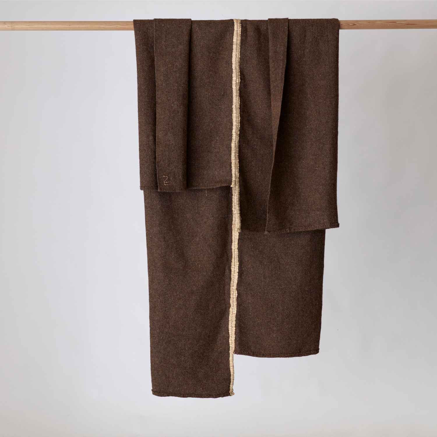 AU Limited Edition hand sewn recycled wool blanket