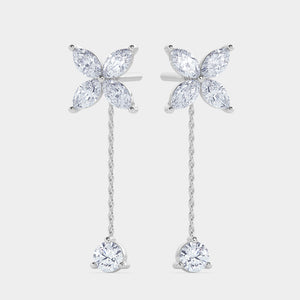Clover Diamond Drop Convertible Earrings