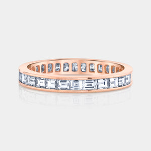 Rose Gold Baguette Diamond Eternity Band