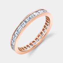 Load image into Gallery viewer, Rose Gold Baguette Diamond Eternity Band